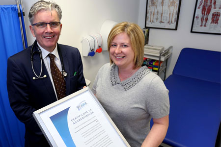 Dr Tony McGread and Mrs Gayle Currie Office Manager